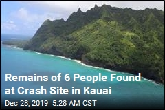 Remains of 6 People Found at Crash Site in Kauai