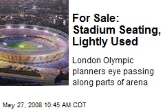 For Sale: Stadium Seating, Lightly Used