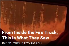 From Inside the Fire Truck, This Is What They Saw