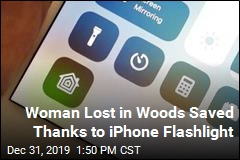 Woman Lost in Woods Saved Thanks to iPhone Flashlight