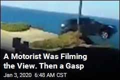A Motorist Was Filming the View. Then a Gasp
