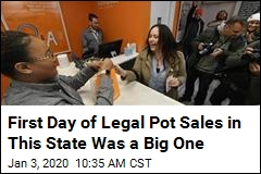 First Day of Legal Pot Sales in This State Was a Big One