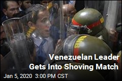 Venezuelan Leader Gets Into Shoving Match