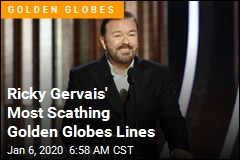 Ricky Gervais Mocks Hollywood's Epstein. Weinstein Ties