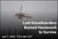 Lost Snowboarders Burned Homework to Survive