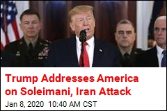 Trump to America: 'Iran Appears to Be Standing Down'