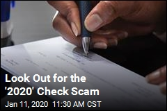 Cops, Experts Warn About '2020' Check Scam