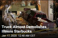 Truck Almost Demolishes Illinois Starbucks