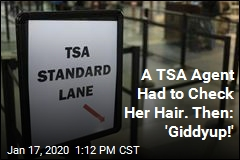 A TSA Agent Had to Check Her Hair. Then: 'Giddyup!'