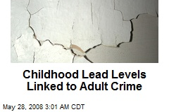 Childhood Lead Levels Linked to Adult Crime
