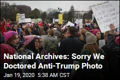 National Archives: Sorry We Doctored Anti-Trump Photo