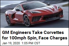 GM Engineers Take Corvettes for 100mph Spin, Face Charges