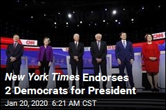 New York Times Endorses 2 Democrats for President