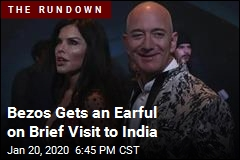 Bezos Gets an Earful on Brief Visit to India
