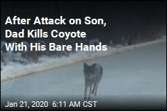 Father Strangles Coyote That Attacked Son