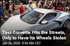 Preproduction Corvette Found With Wheels Stolen