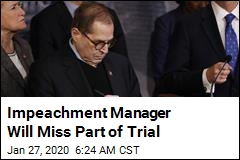 Impeachment Manager Will Miss Part of Trial