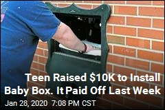 Teen Raised $10K to Install Baby Box. It Paid Off Last Week