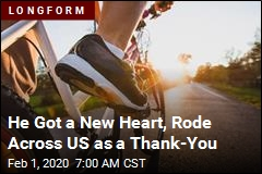 He Rode Across the US to Say Thanks for His Heart