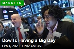 At Midday, Dow Up Nearly 500 Points