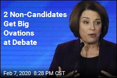2 Non-Candidates Get Big Ovations at Debate