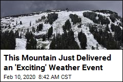 This Mountain Just Delivered an 'Exciting' Weather Event
