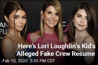 Here's Lori Loughlin's Kid's Alleged Fake Crew Resume