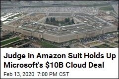 Amazon Wins Suspension of Microsoft's Cloud Contract