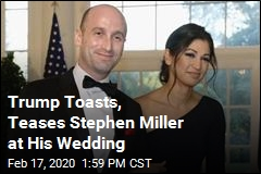 Trump Looks On as Stephen Miller Weds VP's Press Secretary