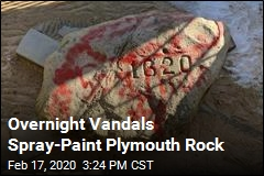 Vandals Hit Plymouth Rock