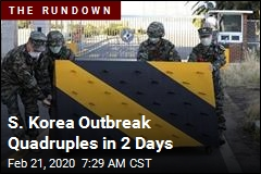 S. Korea Outbreak Quadruples in 2 Days