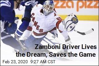 Zamboni Driver Lives the Dream, Saves the Game