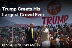 Trump Greets His Largest Crowd Ever