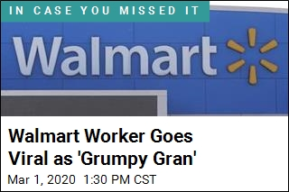 Walmart Worker Goes Viral as 'Grumpy Gran'