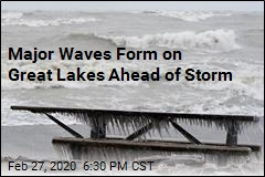 Storm Heads to Northeast as Big Waves Form on Great Lakes