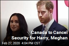 Canada to Cancel Security for Harry, Meghan