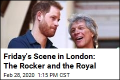Friday's Scene in London: The Rocker and the Royal