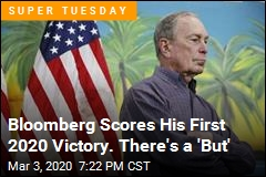 Bloomberg Scores His First 2020 Victory. There's a 'But'