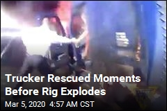 Trucker Rescued Moments Before Rig Explodes