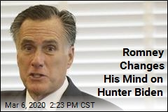 Romney to Back Hunter Biden Subpoena After All