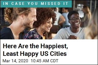 Here Are the Happiest, Least Happy US Cities