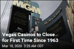 Vegas Casinos to Close for First Time Since 1963