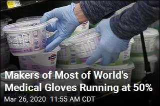Makers of Most of World's Medical Gloves Running at 50%