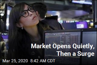 Market Opens Quietly, Then Jumps