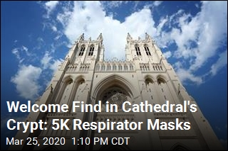 Welcome Find in Cathedral's Crypt: 5K Respirator Masks