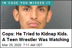 Cops: He Tried to Kidnap Kids. A Teen Wrestler Was Watching