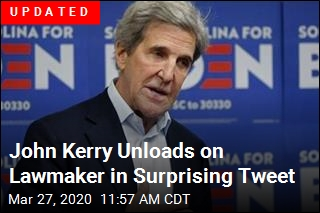 John Kerry Unloads on Lawmaker in Surprising Tweet