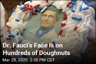 Dr. Fauci's Face Is on Hundreds of Doughnuts