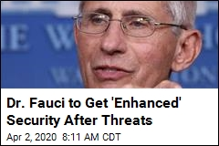 Dr. Fauci to Get 'Enhanced' Security After Threats