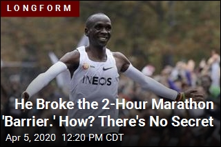 He Broke the 2-Hour Marathon 'Barrier.' How? It's No Mystery
